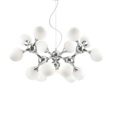 Ideal Lux Suspension Lamp Nodi Bianco 15 Lights E14 Ø 105cm