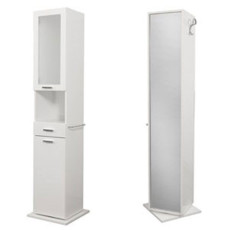 Left swivel column Classica L 43 cm with doors, drawer, open compartment and mirror Savini