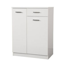 Double base Classica L 60 cm with doors, drawer, shelves and laundry basket Savini