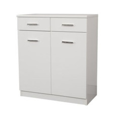 Double base Classica L 69 cm in MDF with doors, drawers, shelves and laundry basket Savini