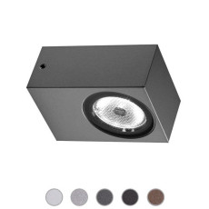 Ares Wall lamp Epsilon LED 3W L 5,5 cm IP65 Outdoor and Garden