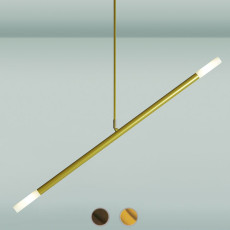Gibas suspension lamp Zen 2 luci G9 L 70 cm