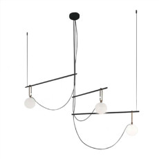 Artemide suspension lamp Nh S3 14 3 luci E14 L 117.5 cm dimmable