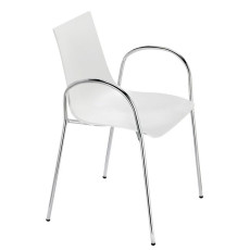 Scab chairs with armrests Zebra, stackable