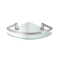 Tomasucci Steffani glass wall corner bathroom shelf L 26 x D 26 cm
