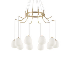 Ideal Lux Suspension Lamp Karousel 10 Lights G9 Ø 82.50cm