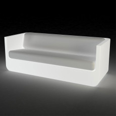 Vondom Sofa bright Smart wireless LED RGBW on battery Ulm L 200 cm