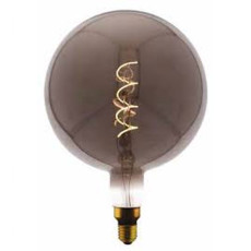 Bulb Vintage LED Filament Curved G200 5W E27 2000K 220/240V Ø 20 cm smoked dimmable DLItalia