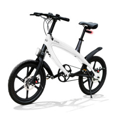 E-City Bike V-ITA Evolution Solid with Bluetooth-White technology