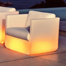 Vondom Armchair bright Smart wireless LED RGBW on battery Ulm L 82 cm