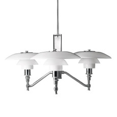 Louis Poulsen Pendant lamp PH 3/2 Academy 3 lights E14 Ø 68 cm
