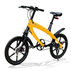 E-City Bike V-ITA Evolution Solid with Bluetooth-Yellow technology