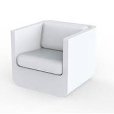 Vondom armchair Ulm LED White L 82 cm
