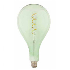 Bulb Vintage LED Filament Curved Smeraldo A165 5W E27 2200K 220/240V Ø 16.5 cm soft green dimmable DLItalia