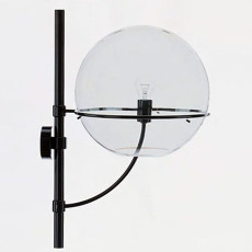 Oluce Wall lamp Lyndon E27 H 70 cm for outdoors and Garden
