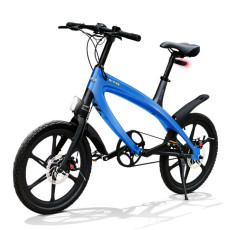 E-City Bike V-ITA Evolution Solid with Bluetooth-Blue technology