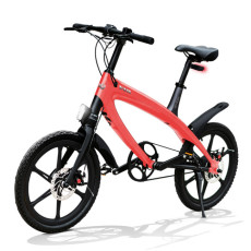 E-City Bike V-ITA Evolution Solid with anti-theft device-Coral