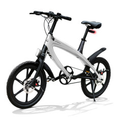 E-City Bike V-ITA Evolution Solid with Bluetooth-Silver technology
