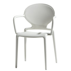 Scab chairs with armrests Gio, stackable, also for garden