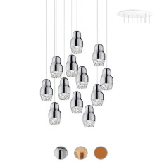 Axo Light Suspension lamp Fedora LED 12 Luci 7,5W H 19 cm