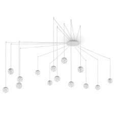 Studio Italia Design suspension lamp Kelly Cluster LED 126W