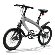 E-City Bike V-ITA Smart Solid with USB-Dark Gray input