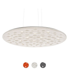 Artemide Suspension lamp Silent Field 2.0 Direct + Indirect LED 37W + 35W Ø 100 cm dimmable