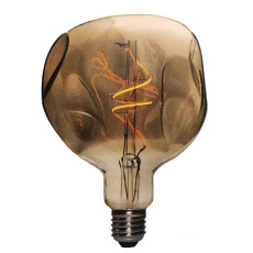 Bulb Vintage Filament LED Curved Globo Bumped 5W E27 2000K 220/240V Ø 12.5 cm gold dimmable DLItalia