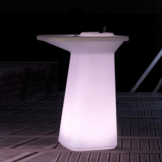 Vondom High table bright Smart wireless LED RGBW on battery Moma High L 75 cm