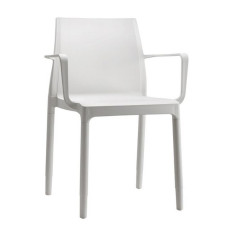 Scab chairs with armrests Chloé Trend Moun Amour, various colors, stackable, also for garden