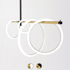 Marchetti Suspension lamp Ulaop LED 55W L 160 cm Dimmer