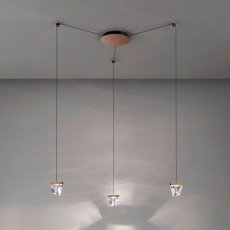 Fabbian pendant lamp Tripla LED 12,9W L 9,8 IP40 Dimmable