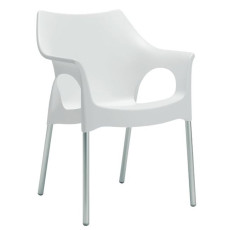 Scab chair Ola, different colors, stackable, fireproof, also for garden