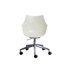 Driade armchair on wheels with die-cast aluminum structure Meridiana H 83.5 cm