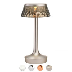 Rechargeable battery lamp Table lamp Flos Bon Jour Unplugged LED 2.5W H 27 cm smoked
