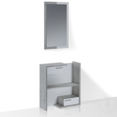 Tomasucci Entrance furniture Floor composition L 83 cm with mirror and drawers Kiara Cement