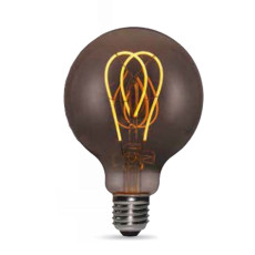 Bulb Vintage LED Filament Curved Smoky G95 5W E27 2200K 220/240V Ø 9.5 cm smoked dimmable DLItalia