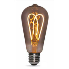Bulb Vintage LED Filament Curved Smoky ST64 LED 5W E27 2200K 220/240V Ø 6.4 cm smoked dimmable DLItalia