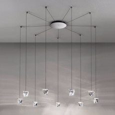 Fabbian pendant lamp Tripla LED 38,7W L 9,8 IP40 Dimmable