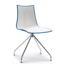 Scab Chair with swivel structure Zebra H 83 cm