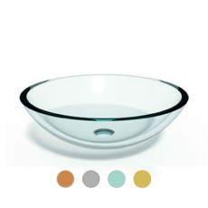Lineabeta Counter top washbasin Acquaio ø 42.5cm Various colors