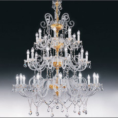 Crystal chandelier with arms 8113ER 30 luci E14 Ø 110 cm Stile Voltolina Erika