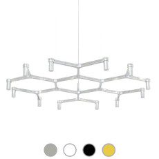 Nemo Pendant lamp Crown Plana Minor 12 Lights G9 Ø 115 cm Dimmable