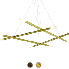 Gibas suspension lamp Zen 8 luci G9 L 140 cm