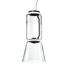 Flos Suspension Noctambule 1 Low Cylinder and Cone H Module 45 cm LED 36W H 82 cm