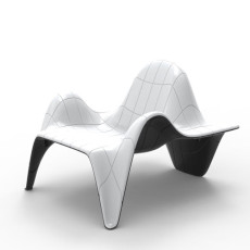 Vondom Two-tone stackable armchair F3 L 90 cm For indoor and outdoor use