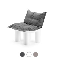 Plust Modular armchair with cushion Atene L 75 cm For indoor and outdoor use