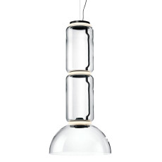 Flos Suspension Noctambule 2 Low Cylinder and Bowl H Module 45 cm LED 45W H 120 cm