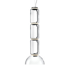 Flos Suspension Noctambule 3 Low Cylinder and Bowl H Module 45 cm LED 54W H 165 cm