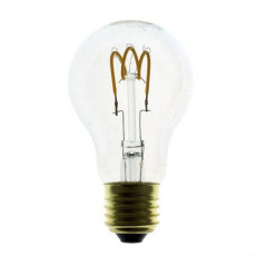 Bulb Vintage LED Filament Curved Goccia 3W E27 2200K 220/240V Ø 6 cm clear dimmable DLItalia